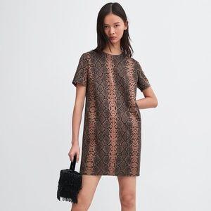 NWT Zara Size S Faux Suede Mini Dress